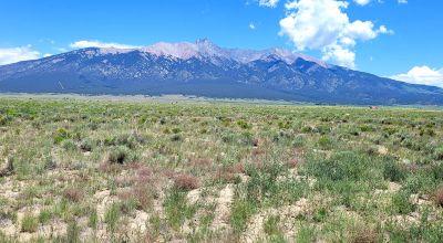 Scenic San Luis Valley Colorado . Mountain Views.  Camp RV Build