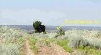Arizona Park Estates with good Road south of Sanders Arizona