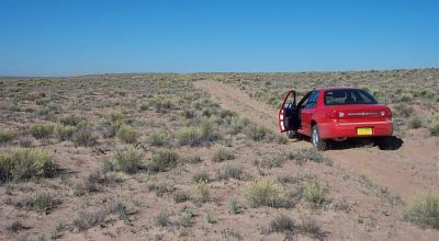 Sun Valley Arizona near Petrified Forest and Painted Desert * Dry wash on property