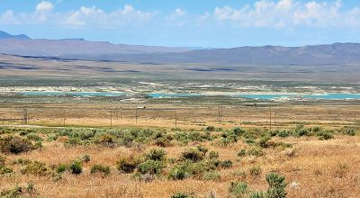 Huge Humboldt River Valley, Rye Patch Res. and Mountain Views * Power