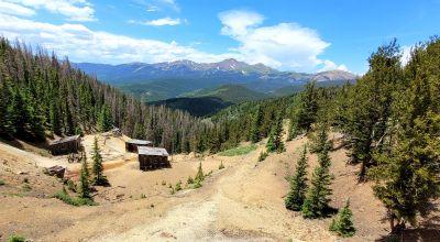 Historic Patented mining Claims * old mining buildings near Bonanza Colorado